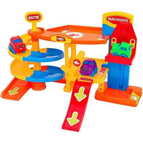 Globo Toys 12 854,9 cm Vitamina _ G de Parking Garage avec Ascenseur et 3 Voitures Playset