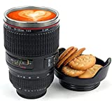 Shopeleven Camera Lens Mug With ,Stainless Steel Travel Thermos Camera Lens Coffee Tea Cup Mug Coffee Cup