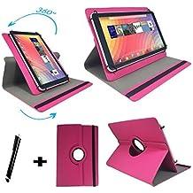 Onda V919Air–Teclado alemán Tablet Funda con función atril–9.7pulgadas teclado rosa rosa