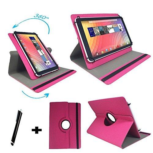 Tablet Tasche für MP Man MPW815 Schutz Hülle Etui mit Standfunktion + Touch Pen – Pink 8 Zoll 360