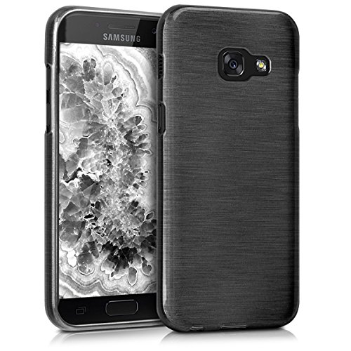 kwmobile Samsung Galaxy A3 (2017) Hülle - Handyhülle für Samsung Galaxy A3 (2017) - Handy Case in Anthrazit Transparent