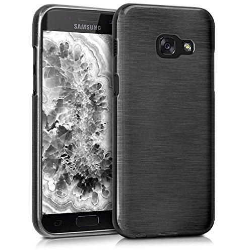 kwmobile Samsung Galaxy A3 (2017) Hülle - Handyhülle für Samsung Galaxy A3 (2017) - Handy Case in Anthrazit Transparent