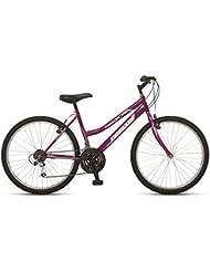 """Orbita ALFA 24"""" - Bicicleta BTT de montaña para niña, 18 velocidades, cuadro 14'' acero, frenos V-Brake, rosa, (9 - 12 años)"""