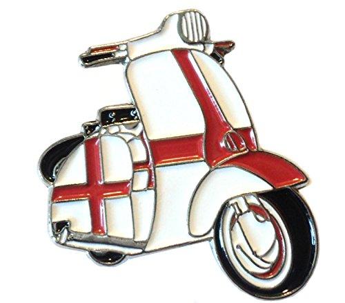 England St George Flag Covered Scooter MOD Metal Enamel Badge