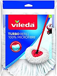 Vileda 152623 EasyWring and Clean Turbo Classic Microfibre Mop Refill Head, Multi-Colour