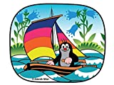 Der Kleine Maulwurf Sonnenschutz für das Autofenster (2 Stück) - Motiv: Segelboot