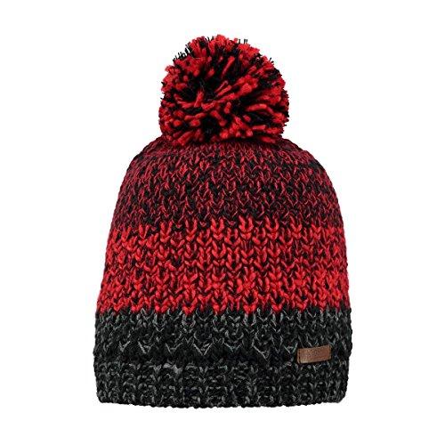 Bonnet à Pompon Lester rouge-anthracite BARTS - Taille unique