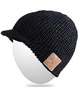Qshell delle donne degli uomini elegante Bluetooth Beanie della protezione del cappello con la cuffia wireless Bluetooth Auricolare Musica audio a mani libere telefonata - Nero