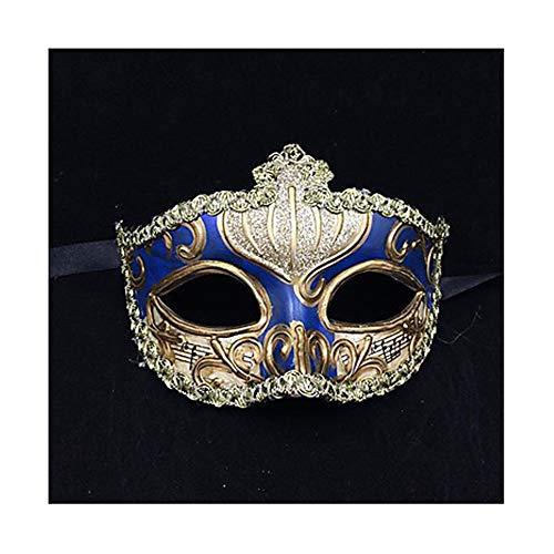 T682541 Halloween Maske Venezianische Maske Skulptur Handbemalt Erwachsenen Vintage Halbmaske Kopfbedeckung Cosplay Halloween Dress - Horrorfilm Paare Kostüm