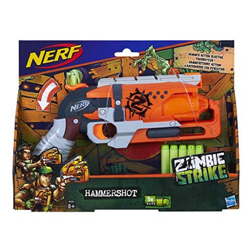 Hasbro NERF A4325EU5 NER Zombie Strike HAMMERSHOT, Rosa