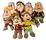 Set Completo 7 Peluche I Sette Nani Biancaneve 35cm Originali Disney - Nomi in Italiano Cucciolo Brontolo Mammolo Dotto Eolo Pisolo Gongolo