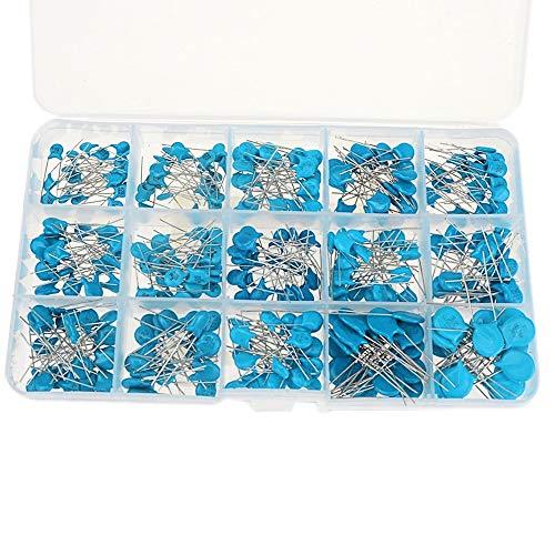 Nrpfell 15 Werte x 20 Stücke Kondensator Set Hochspannung Keramikkondensatoren Sortiment Sortiment Satz 1nF 2.2nF 10nF 22nF 0.47nF 0.56nF-10nF -