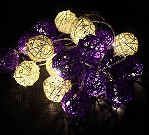 Eysee lila und gelb dekorative Lampe 20 Kugel für Garten, Innenraum, Blumenladen und Schaufenster Glück Ei