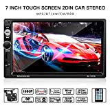 Autoradio,LESHP Auto Radio 2 Din Bluetooth 7 Pouces Ecran Tactile Full...