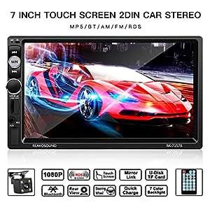 2 din autoradio leshp 7 zoll hd 1080p touchscreen auto. Black Bedroom Furniture Sets. Home Design Ideas