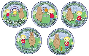 Inspirational Playlands P209922/05 - Juego de 5 letreros de Oso de Buena conducta, para Actividades al Aire Libre, Juguete Educativo