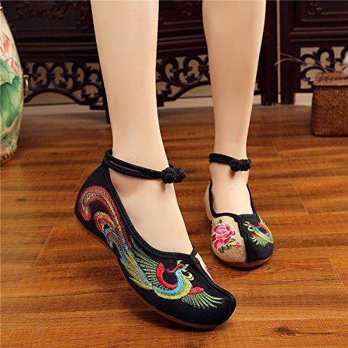 Chaussures À KHSKX Antidérapage Phoenix black Vieux Fond Mou Rétro Dichotomanthes Habillement Chaussures Beijing EEp4xBwqv