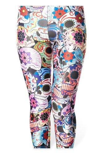 JTC Femmes Pantalons de Crayon Punk Imprimé Stretch Leggings Hanche JTC