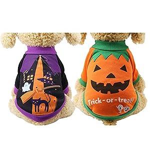 Jannyshop Halloween Costume Pet Chien Tricots Pull À Col Roulé Chien d'hiver Garder Le Manteau (XS-2XL)