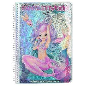 Depesche- Libro para Colorear Fantasy Model Mermaid, Aprox. 17 x 23,5 x 1,5 cm. (10472)