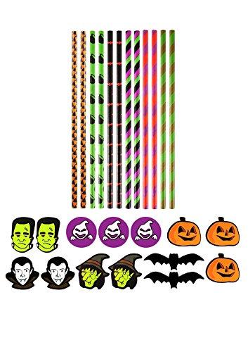 36x Halloween pailles