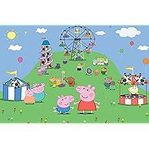 CIALDA in ostia PEPPA PIG personalizzabile formato foglio A4 decorazione per torta