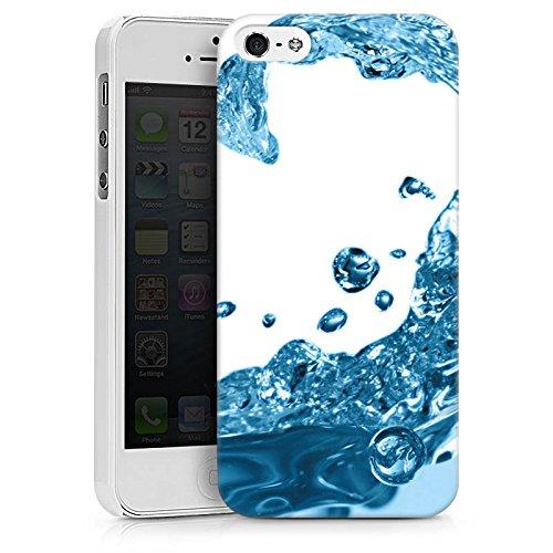 Apple iPhone X Silikon Hülle Case Schutzhülle Wasser Tropfen Welle Hard Case weiß