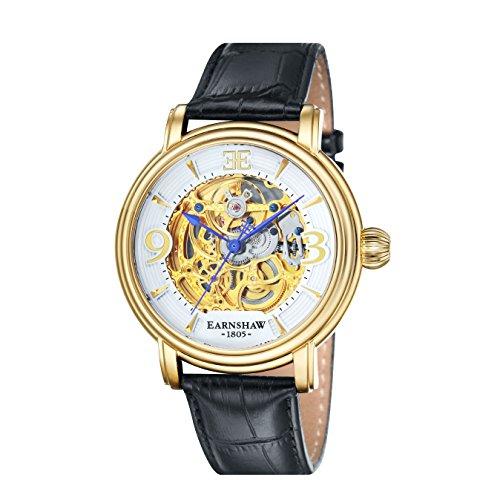 Thomas Earnshaw Longcase - Reloj para hombre, color plata / negro