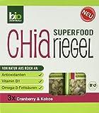 biozentrale Chia Riegel Cranberry und Kokos, 2er Pack (2 x 120 g)