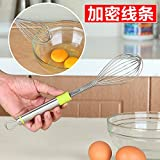 Generic Free Shipping Stainless Steel Egg Beater Household Manual Mini Whishts Hand-held Egg Stick Mixer Kitchen Supplies