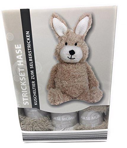 Strickset Hase, Esel, Hund, kpl. Set mit Nadeln und alles was man dazu braucht, (Hase)