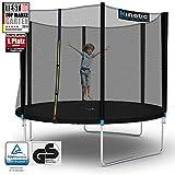 Kinetic Sports Outdoor Trampolin Gartentrampolin für Kinder und Erwachsene mit Randabdeckung und...