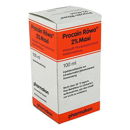 Procain Röwo 2% Maxi Injektionsflaschen 100 ml