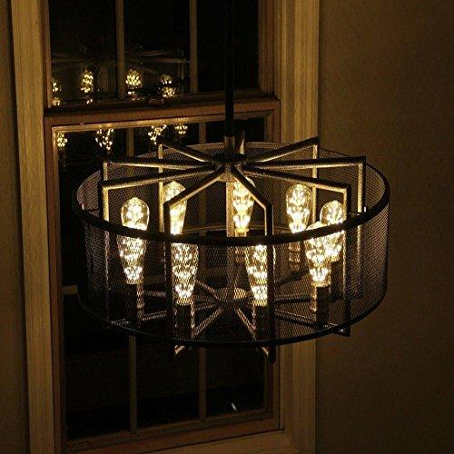 4 Packung Vintage Beleuchtung, VSOAIR LED-Birnen mit 3W ST64 Weinlese-Edison-Feuerwerk-dimmable Birnen-Beleuchtung-warmem Weiß 2200K - 6