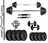 #7: Bfit Pvc 24 Kg Adjustable Fitness Dumbells Set Home Gym