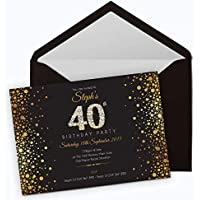 50 Personalised Birthday Invitations/Party Invites Choose from 39 Stunning Designs • 18th 21st 30th 40th 50th - Any Age. Customise All Wording and Colours. Free envelopes and Free delivery
