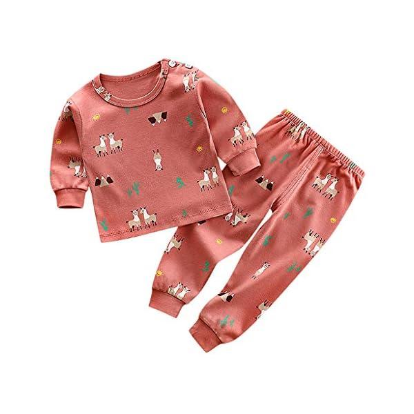 Shenye - Conjunto de Pijama de Manga Larga para niños de 0 a 11 años y Pantalones, Ropa de Ocio 1