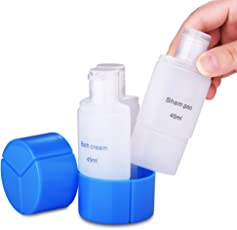 INOVERA (LABEL) Travel 3 in 1 Plastic Shampoo Cream Lotion Storage Dispenser Bottle, (KG54MULTI)