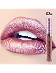 Oshide Waterproof Durable Matte Liquid Lipstick Beauty Glitter Lip Gloss Long Lasting Lip Stain Tint-6 Colors For Choose
