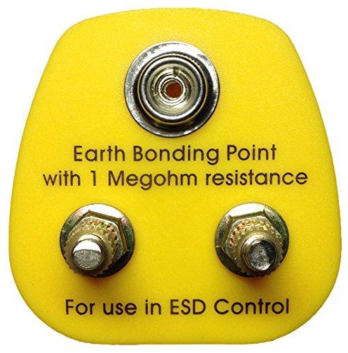 antistatisch ESD Erdungsstecker UK–1x 10mm Ohrstecker, 2x M5Post Verbindungen (hergestellt im Vereinigten Königreich) (Post Ohrstecker)