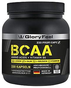 GloryFeel® BCAA 330 Kapseln - Der VERGLEICHSSIEGER 2019*- Essentielle...