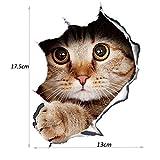 13 * 17cm 3D Stéréo Anime Kitten Dog Simulation Stickers Accessoires de Coiffure, 2 pièces, montrant la personnalité...