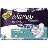 Always Discreet pour fuites urinaires et incontinence - 10 Serviettes -long