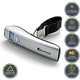 Bilancia Digitale per Bagaglio Dunheger 50kg Gratis: Borsa da trasporto + Batterie AAA