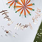 Ginger Ray Rose-Gold Foiled Happy Party Kulissen-Wimpelkette, 1,5 m – Hoppy Easter, Mehrfarbig