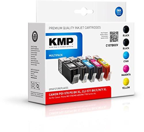 Preisvergleich Produktbild KMP Multipack für Canon Pixma MG 5700/MG 6800/MG 7700/TS 5000 Series/TS 6000 Series/TS 8000 Series/TS 9000 Series, C107BKXV