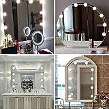 TAOtTAO, Kit Fai da Te con 10 luci LED dimmerabili per Specchio da Trucco Hollywood