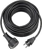 Brennenstuhl Qualitäts-Gummi-Verlängerungskabel (5m Kabel, für den kurzfristigen Einsatz im Außenbereich IP44) schwarz