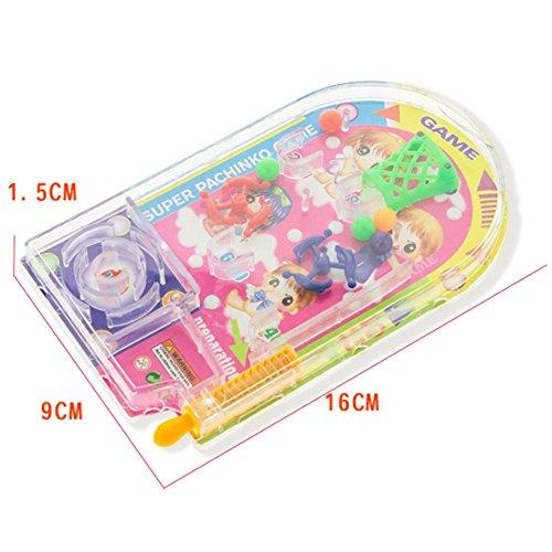 Color Aleatorio Dailyinshop Novedad Space Race Pinball Toy Party Juegos Tire hacia Atr/ás Pinball Mini Machine Gift