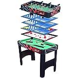 HLC® Mesa Multi-Juegos Plegable 6 en 1 Incluye:Mesa de Billar,Ping Pong,Air Hockey,Futbolín,Ajedrez y Backgammon,El regalo ideal para la familia y amigos !